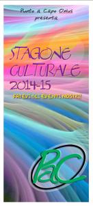 stagione culturale 2014-15 copertina