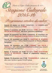 Locandina calendario stagione