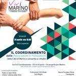 Il 29 aprile alle 18.00 presentiamo il Coordinamento delle Associazioni e Fondazioni della Città di Marino