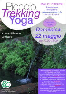 Locandina trekking yoga