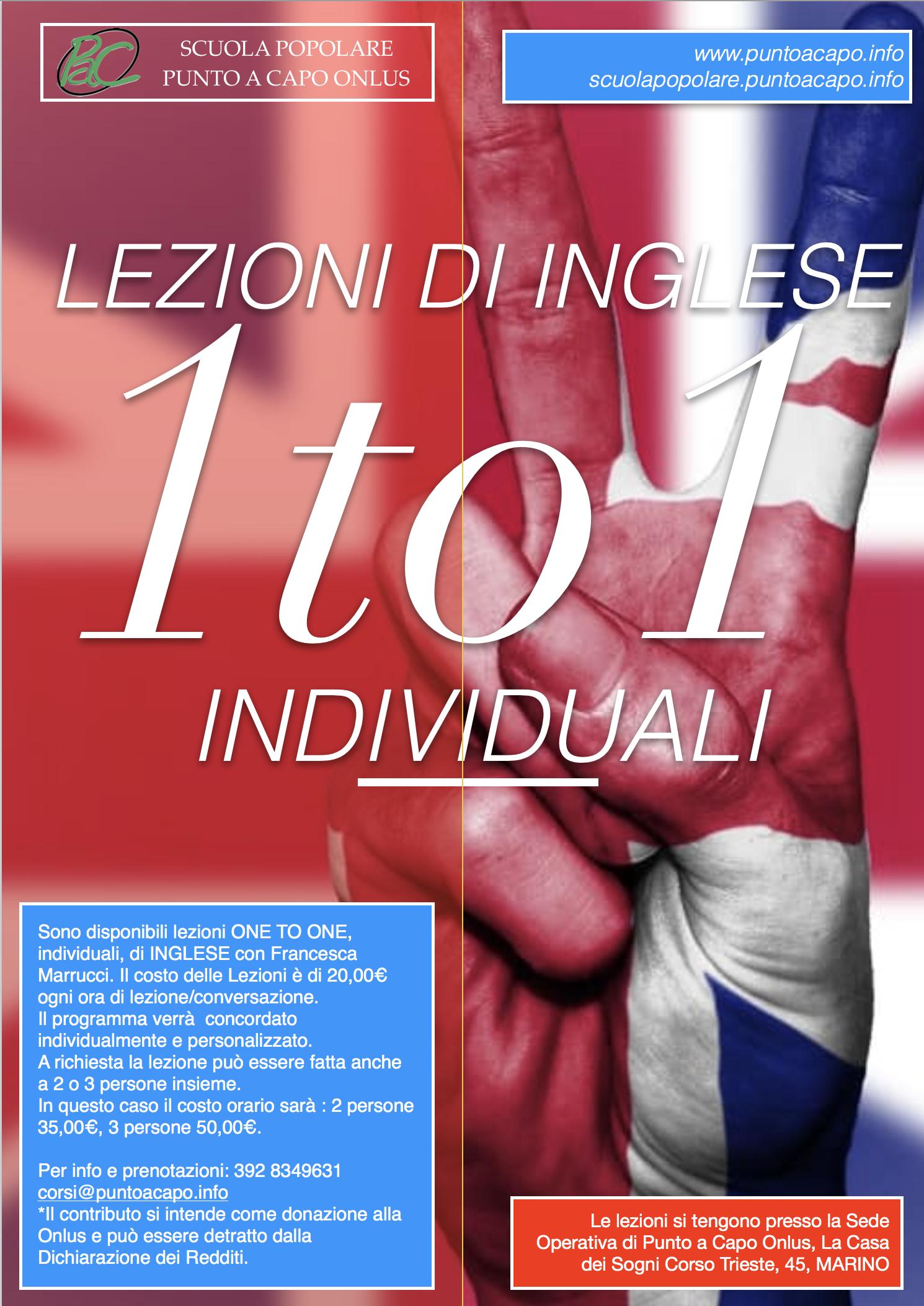 One To One Di Inglese Scuola Popolare Punto A Capo