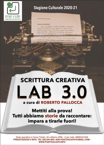 Locandina Lab Scrittura 2020-21